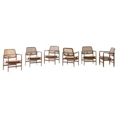"""Set of """"Oscar"""" Armchairs by Sergio Rodrigues, Brazilian Midcentury Design"""