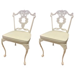 Set of Pair Matching Signed Molla Italy Cabriole Leg Dining Chairs