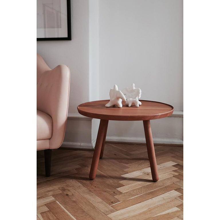 Set of Pelican Chair in Wood and Fabric and Pelican Table by Finn Juhl For Sale 1