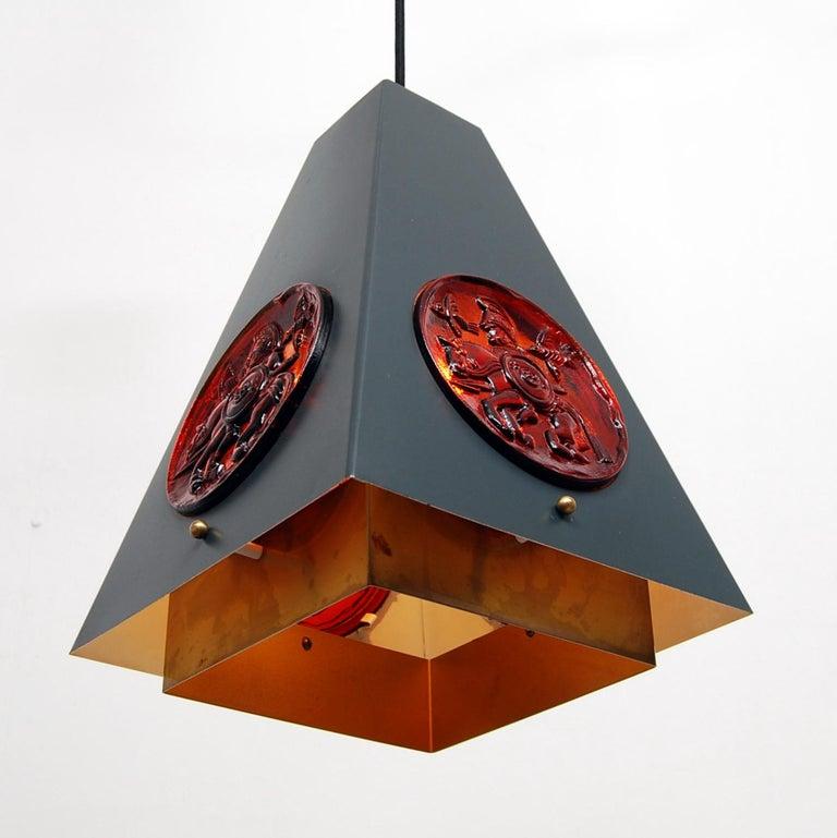 Swedish Set of Pendant Lamps by Einar Bäckström & Erik Höglund, Sweden, 1960s  For Sale