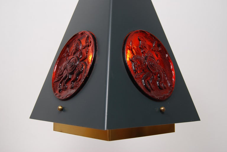Set of Pendant Lamps by Einar Bäckström & Erik Höglund, Sweden, 1960s  In Good Condition For Sale In Stockholm, SE