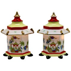 Set of Perfume Lamps/Air Purifier/Stampt Gerold & Co. Tettau Bavaria circa 1930s