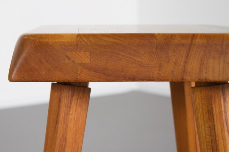 Wood Set of Pierre Chapo S01 Stools in Solid Elmwood, 1960s For Sale