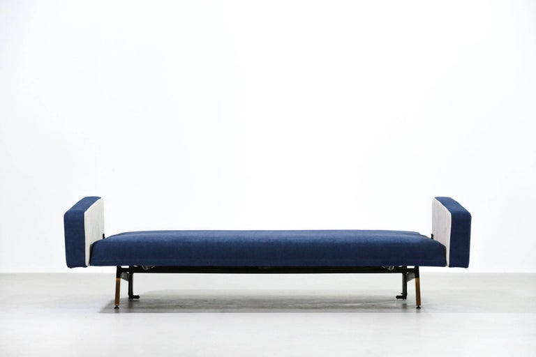 Set of Pierre Guariche Sofa Bed and Pair of Armchairs for Airborne French Design For Sale 4