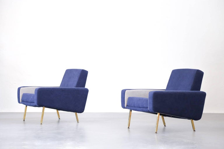 Set of Pierre Guariche Sofa Bed and Pair of Armchairs for Airborne French Design For Sale 10