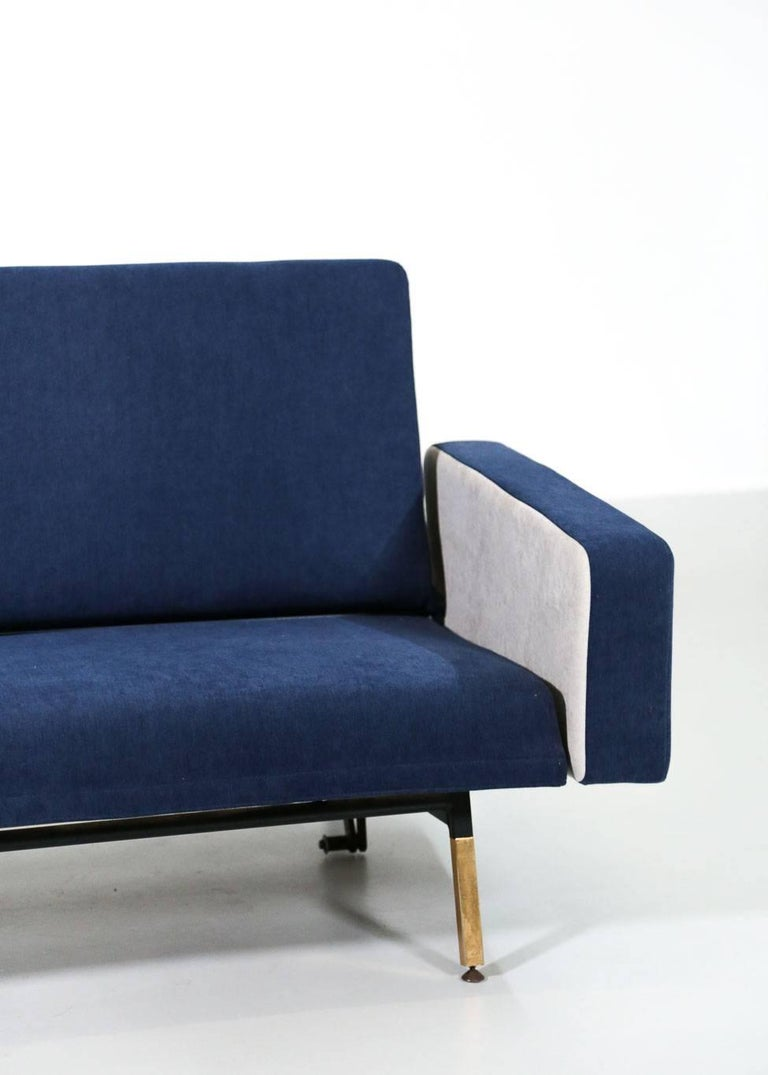 Set of Pierre Guariche Sofa Bed and Pair of Armchairs for Airborne French Design For Sale 1
