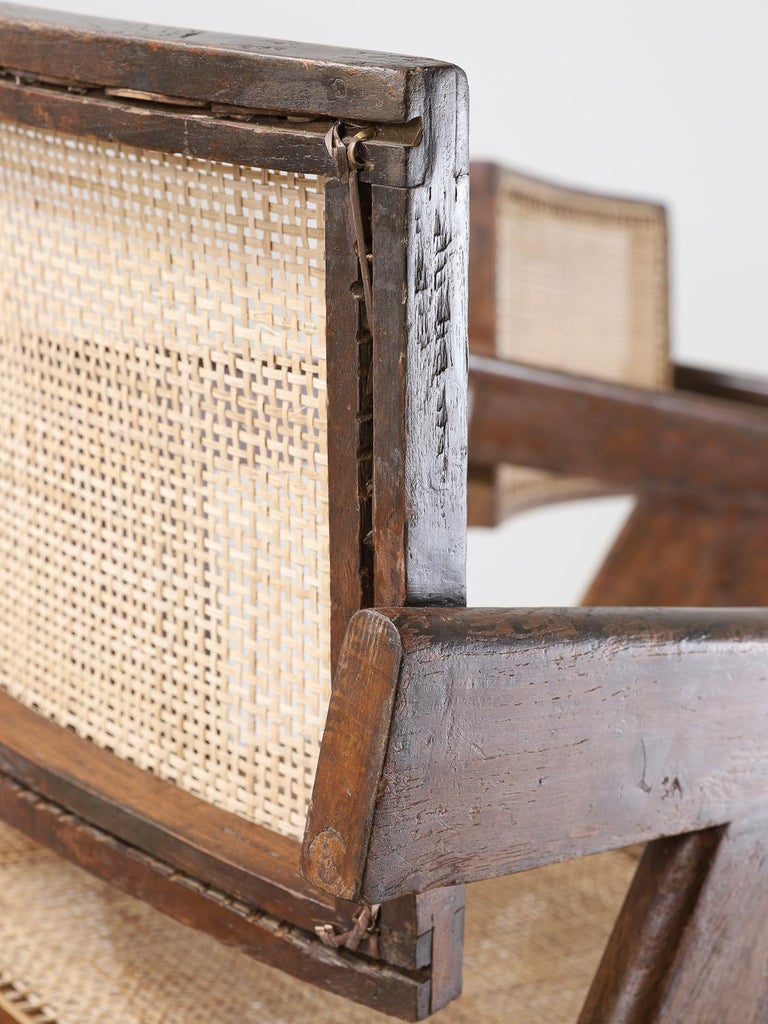 Set of Pierre Jeanneret Office Chair Chandigarh, India Model PJ-SI-28-A, 1950s For Sale 5