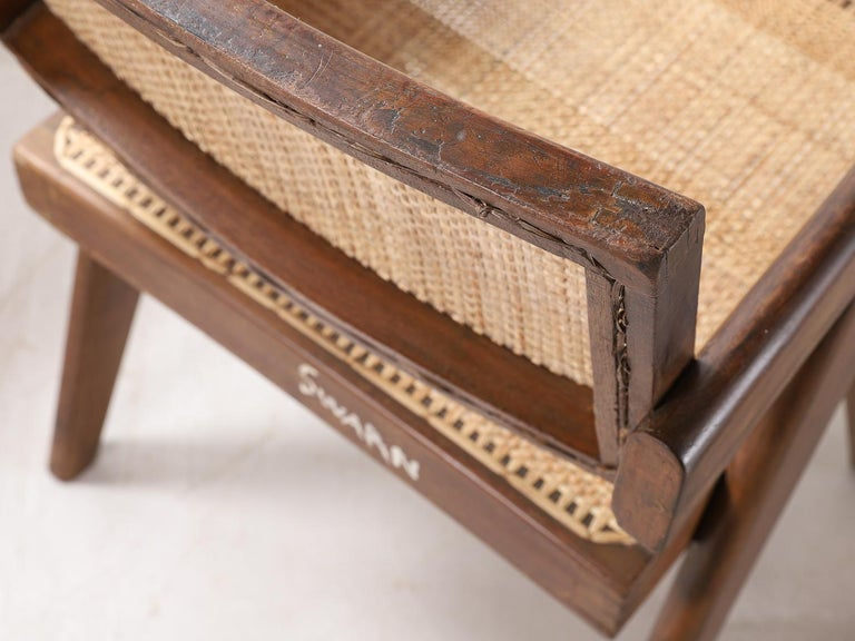 Set of Pierre Jeanneret Office Chair Chandigarh, India Model PJ-SI-28-A, 1950s For Sale 6