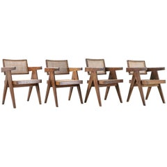 Set of Pierre Jeanneret Office Chair Chandigarh, India Model PJ-SI-28-A, 1950s