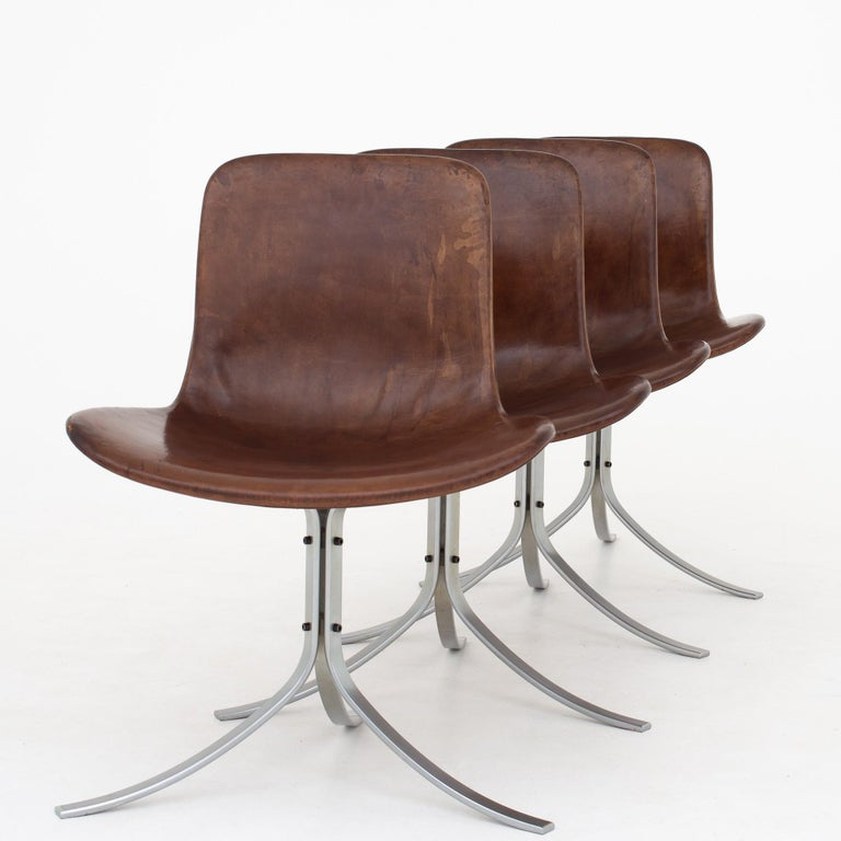 Set of PK9 Chairs by Poul Kjærholm For Sale 4