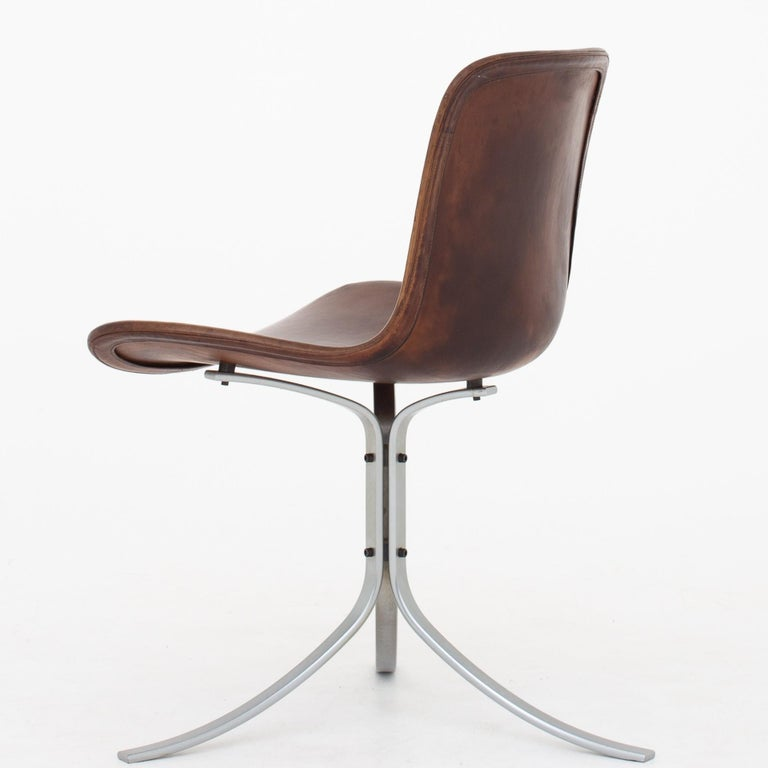 Scandinavian Modern Set of PK9 Chairs by Poul Kjærholm For Sale