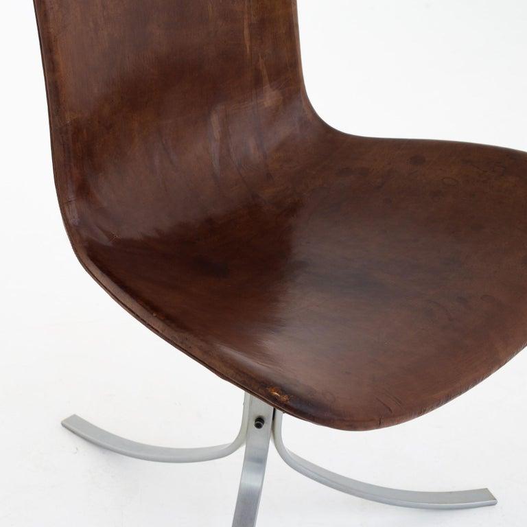 Set of PK9 Chairs by Poul Kjærholm In Fair Condition For Sale In Copenhagen, DK