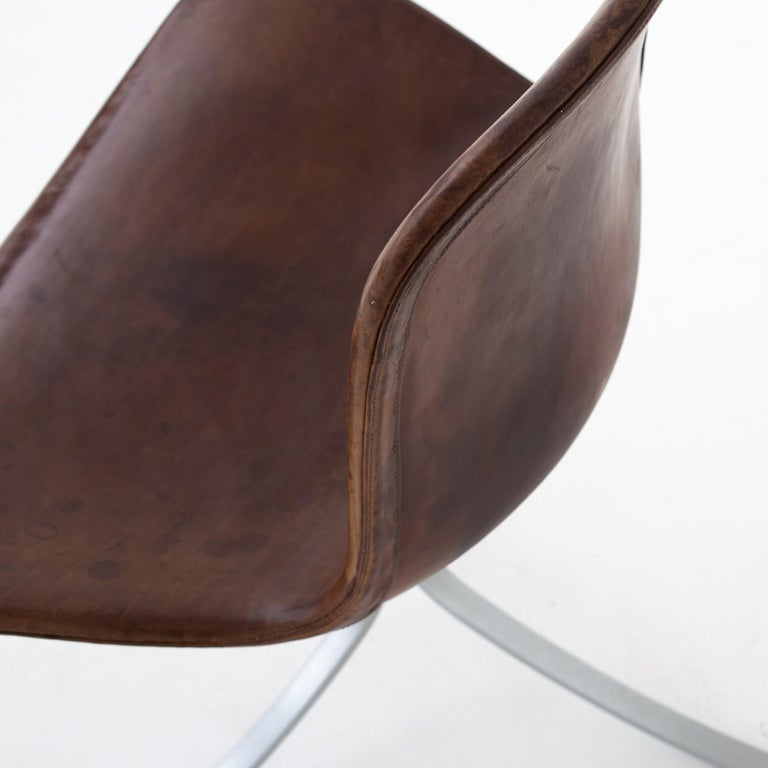 Leather Set of PK9 Chairs by Poul Kjærholm For Sale