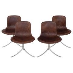 Set of PK9 Chairs by Poul Kjærholm