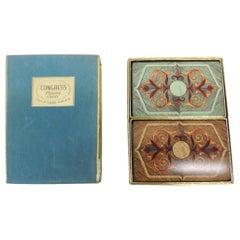 Set of Playing Cards in Velvet Blue Box