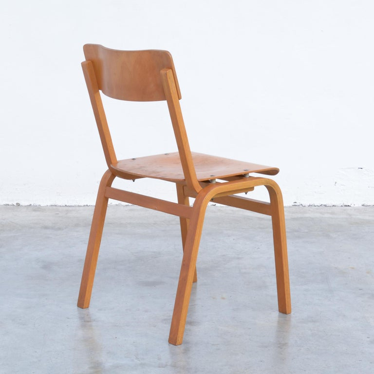 Mid-Century Modern Set of Plywood Dining Chairs of the 1960s For Sale