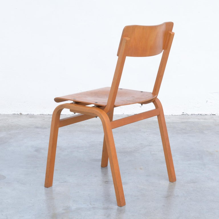 Set of Plywood Dining Chairs of the 1960s In Good Condition For Sale In Vlimmeren, BE