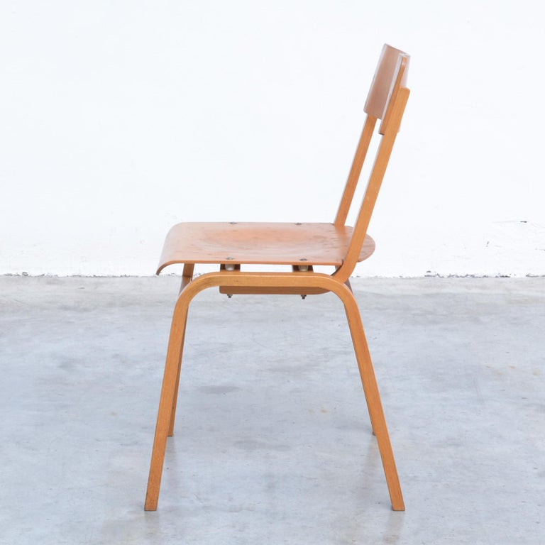 Mid-20th Century Set of Plywood Dining Chairs of the 1960s For Sale