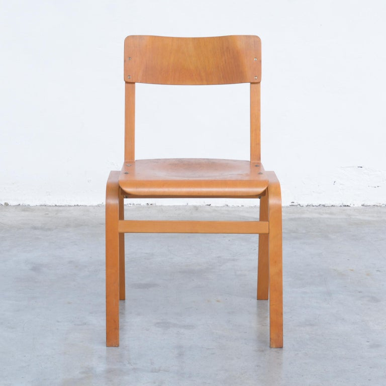 Set of Plywood Dining Chairs of the 1960s For Sale 1