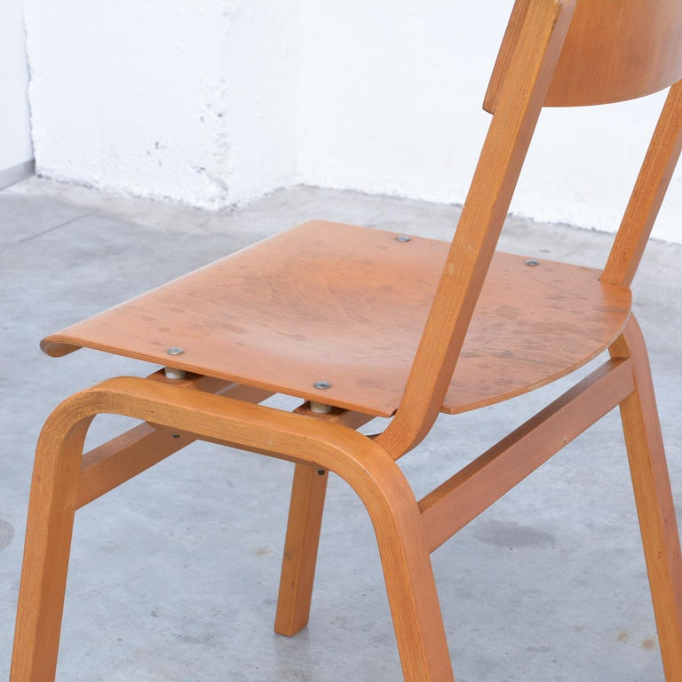 Set of Plywood Dining Chairs of the 1960s For Sale 2