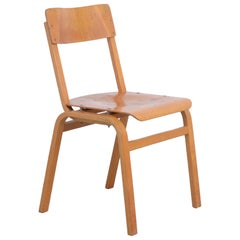Set of Plywood Dining Chairs of the 1960s