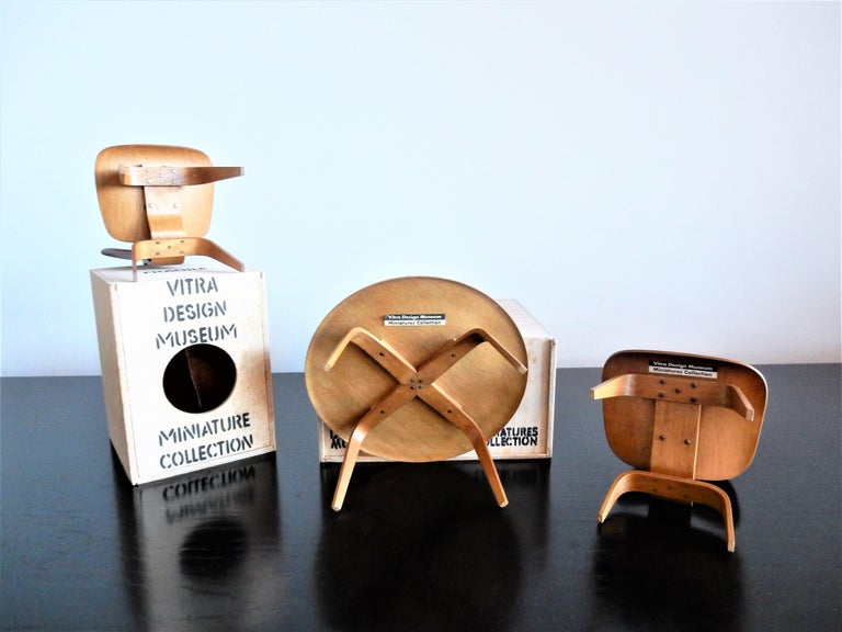 Mid-Century Modern Set of Plywood miniatures by Charles & Ray Eames for Vitra, Switzerland For Sale
