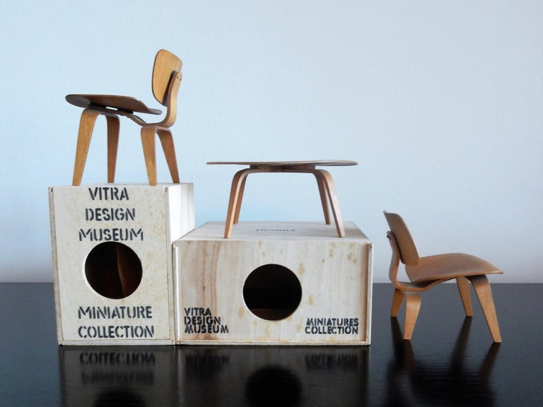 Swiss Set of Plywood miniatures by Charles & Ray Eames for Vitra, Switzerland For Sale