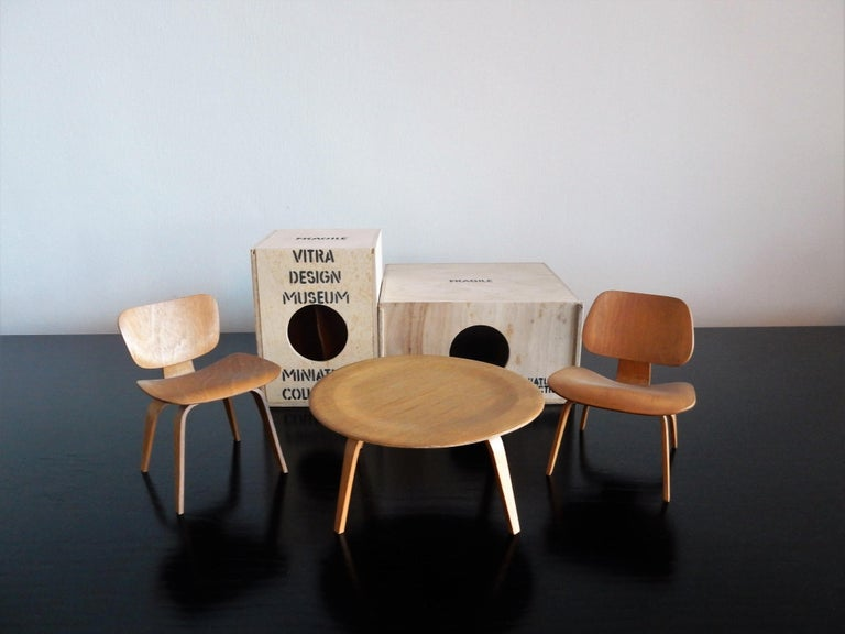 Laminated Set of Plywood miniatures by Charles & Ray Eames for Vitra, Switzerland For Sale
