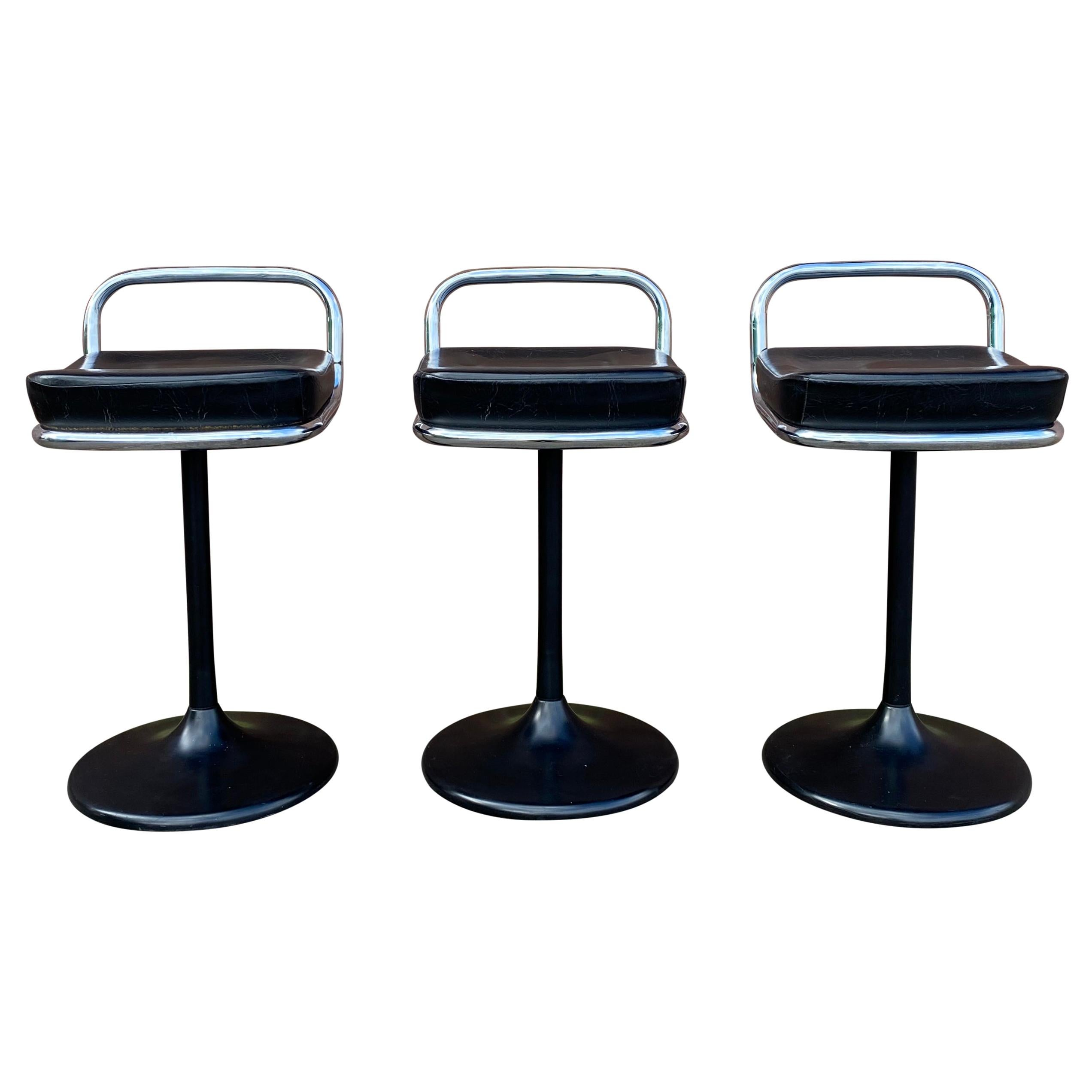 Set of Postmodern Swivel Chairs, Barstools by Lush, 1970s