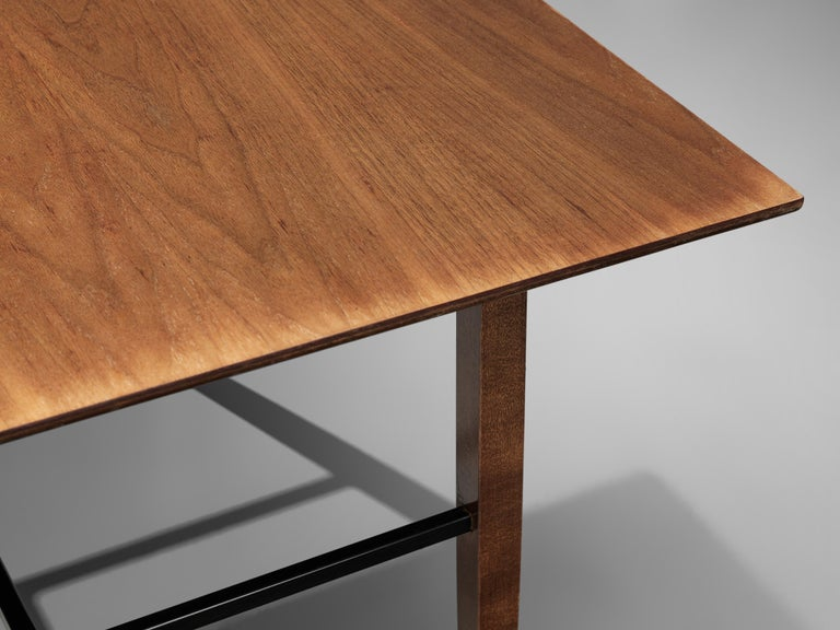 Set of Rare Harry Bertoia Side Tables in Walnut For Sale 2