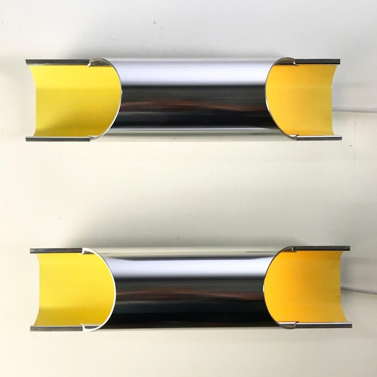 Scandinavian Modern Set of Rare Pandean Wall Sconces by Bent Karlby for Lyfa, Denmark, 1970 For Sale