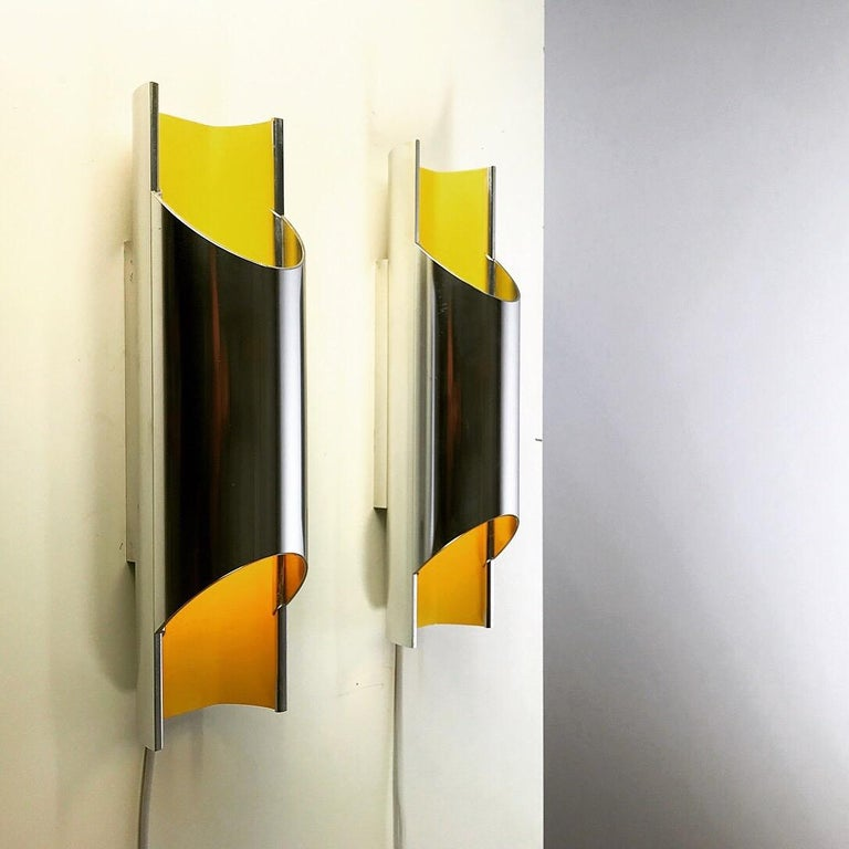Set of Rare Pandean Wall Sconces by Bent Karlby for Lyfa, Denmark, 1970 For Sale 1