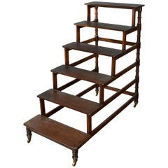 Set of Regency Period Mahogany Library Steps