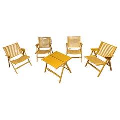 Set of Rex folding chairs by Niko Kralj, 1960s