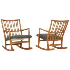 Set of Rocking Chairs by Hans J. Wegner