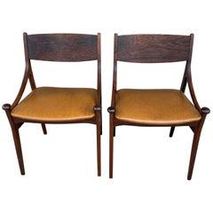 Set of Rosewood Chairs by Vestervig Eriksen for Brdr Tromborg