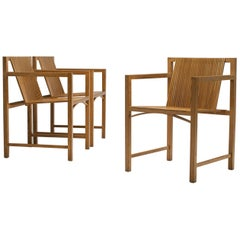 Set of Ruud-Jan Kokke Slat Chairs, the Netherlands, 1986