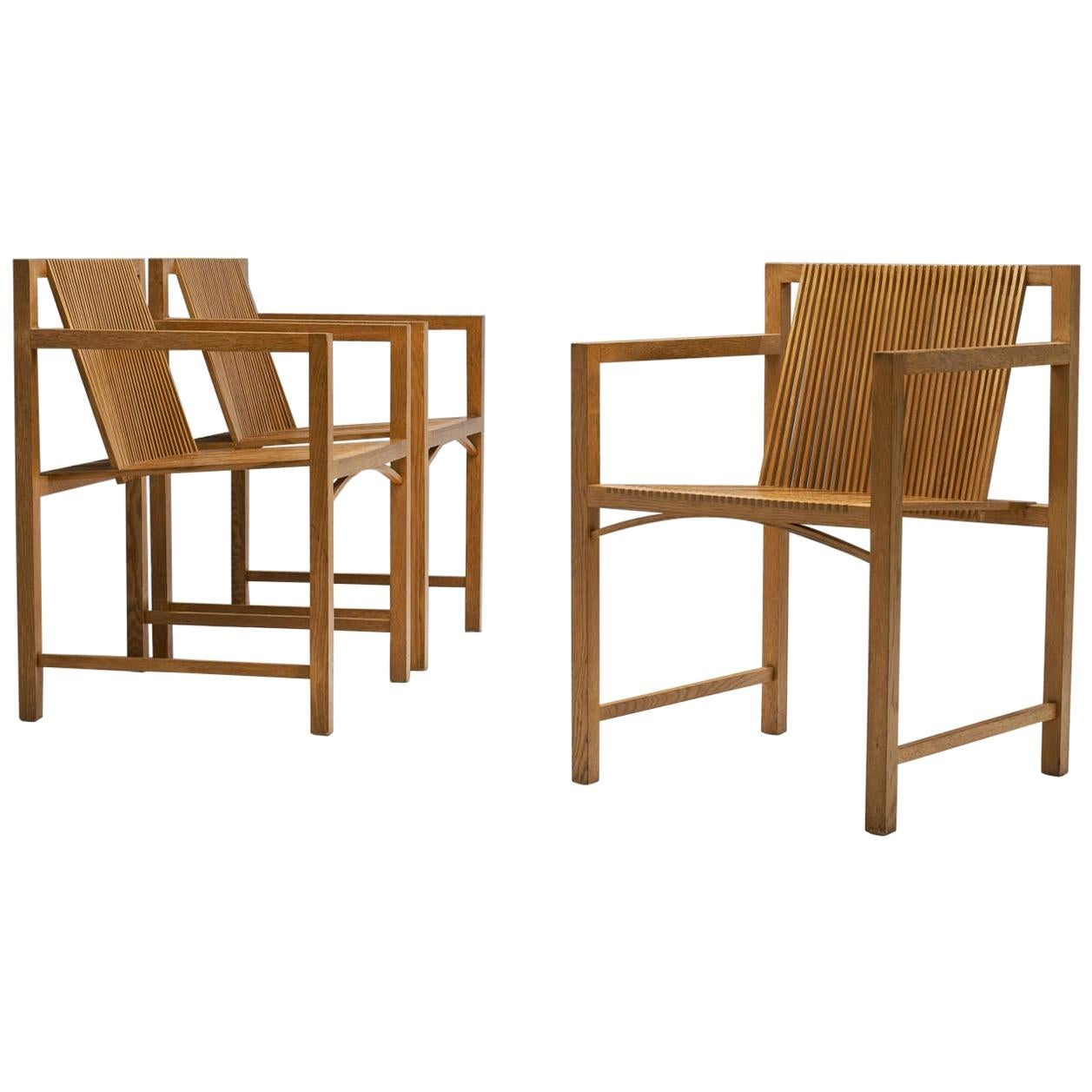 Set of Ruud-Jan Kokke Slat Chairs, the Netherlands, 1986