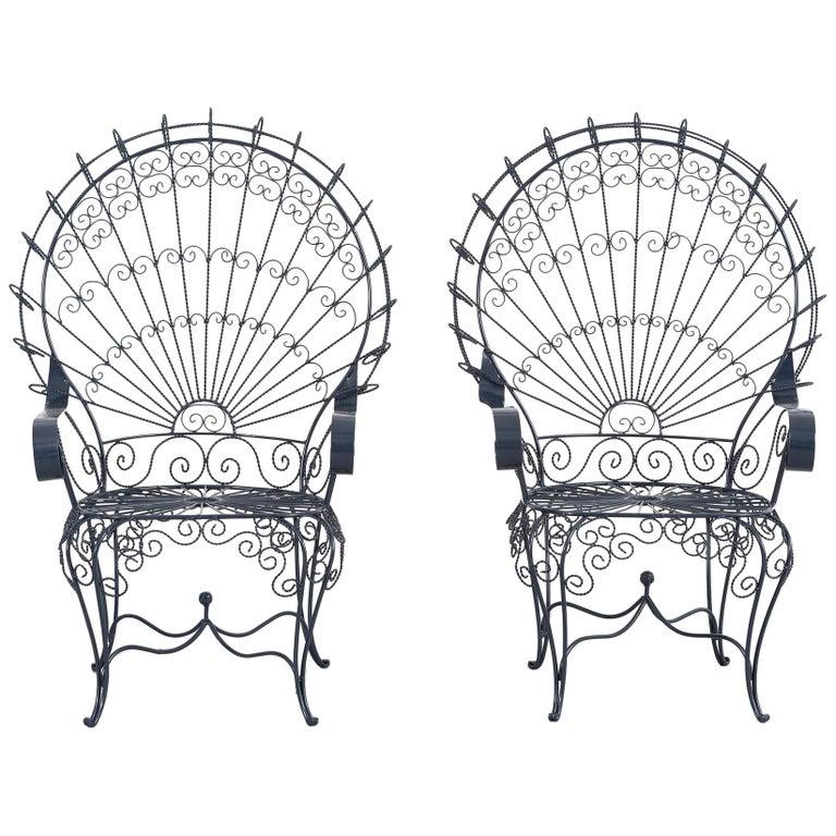 set of salterini peacock chairs at 1stdibs