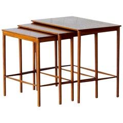 Set of Scandinavian Midcentury Teak Nesting Tables, Grete Jalk, 1970