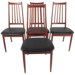 Set of Scandinavian Modern Teak Dining Chairs