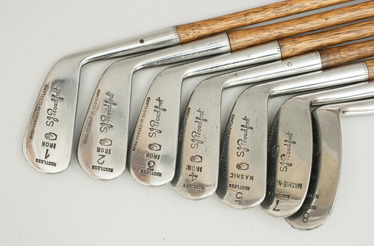 Set of Scottish Vintage Golf Clubs by Nicoll of Leven For Sale 6