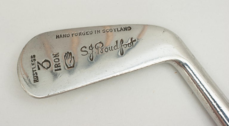 Set of Scottish Vintage Golf Clubs by Nicoll of Leven For Sale 1