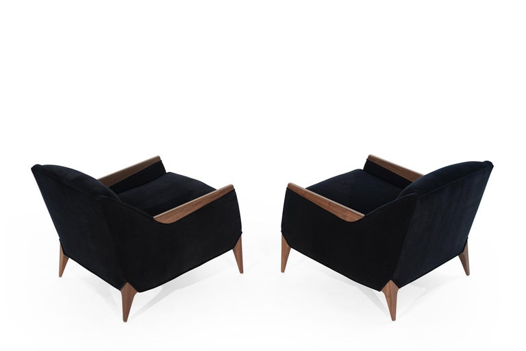 Set of Sculptural Italian Reading Lounges in Mohair, 1950s In Excellent Condition For Sale In Stamford, CT