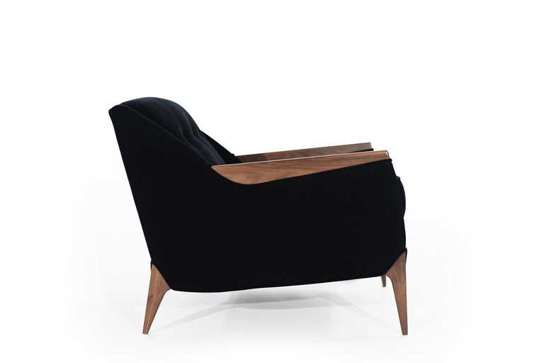 Set of Sculptural Italian Reading Lounges in Mohair, 1950s For Sale 1