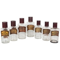 Set of Seven 19th Century French Apothecary Bottles