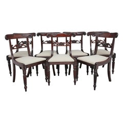 Set of Seven 19th Century Mahogany Dining Chairs