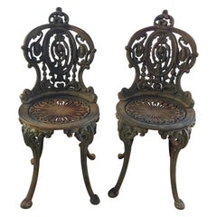 Set of Seven 19th Century Victorian Garden Seats