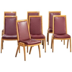 Set of Seven Austrian Mid-Century Modern Dining Chairs