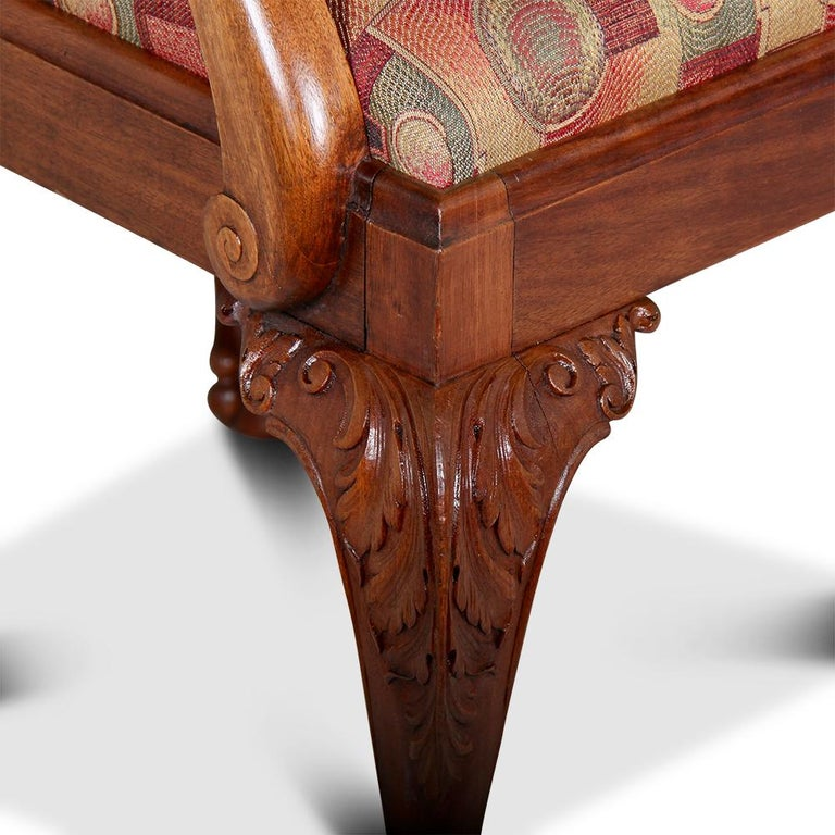 Set Of Seven Carved Mahogany Chippendale Dining Chairs For